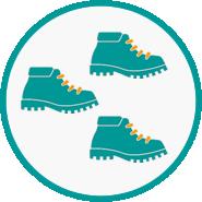Hefty hikes icon