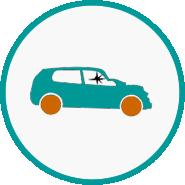 Abandoned car icon