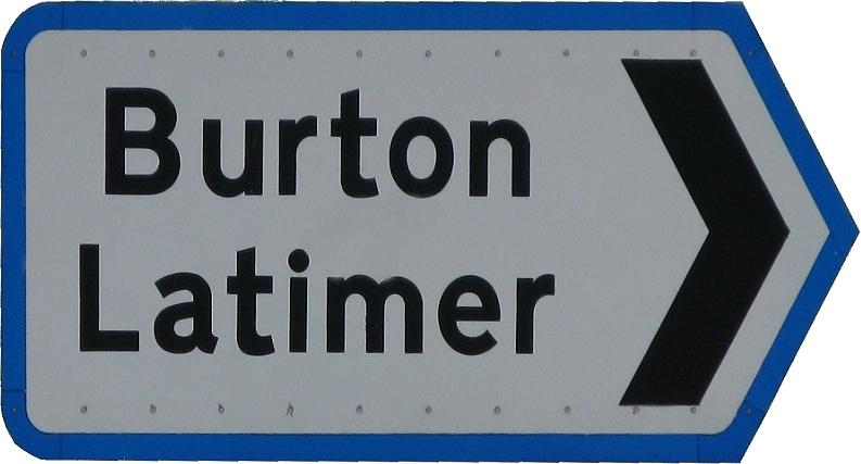 Burton Latimer direction sign