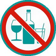 No-alcohol zone icon