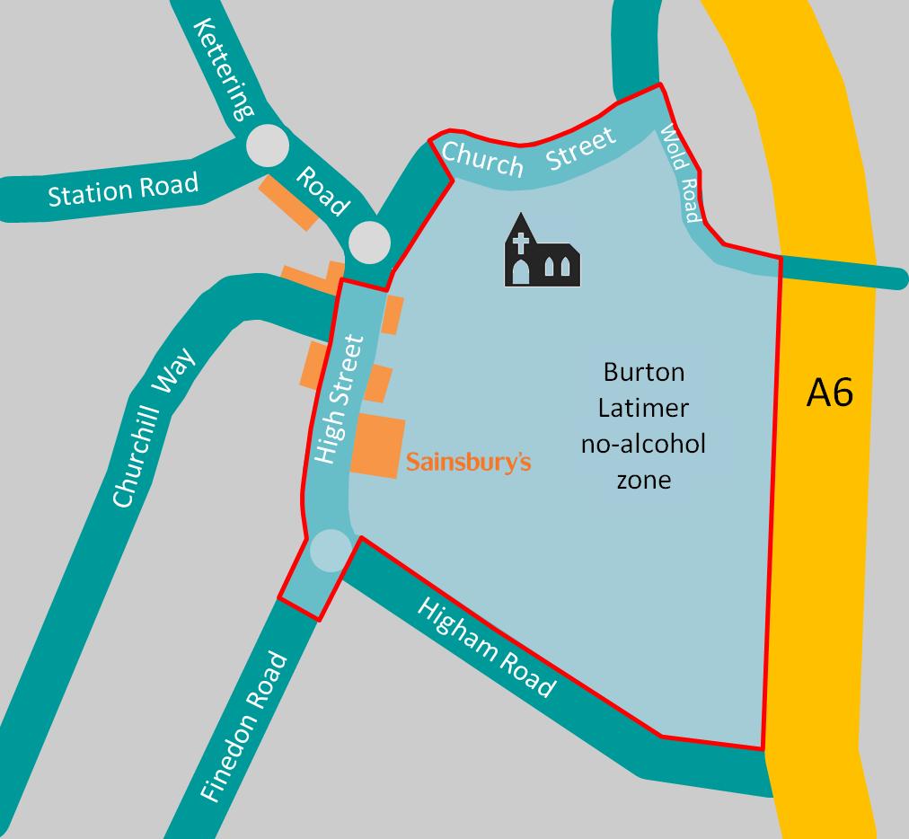 No-alcohol zone, Burton Latimer