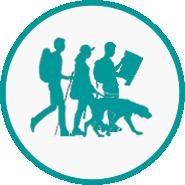 Organised walks icon