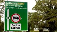 Burton Latimer Road sign