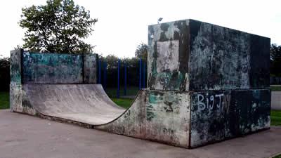 Skateboard ramp, King George V Playing Field, Burton Latimer